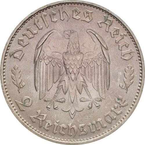 Rückseite :Deutschland : 2 Reichsmark Schiller winz. Kratzer 1934 Stgl.