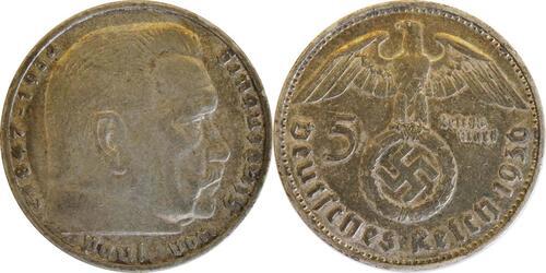Lieferumfang:Deutschland : 5 Reichsmark Hindenburg  1936 ss.