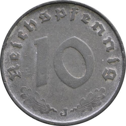 Vorderseite :Deutschland : 10 Reichspfennig Kursmünze -selten- 1943 ss.