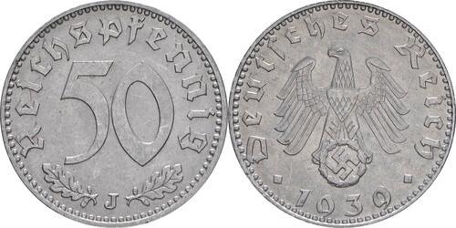 Lieferumfang:Deutschland : 50 Reichspfennig Kursmünze  1939 vz/Stgl.