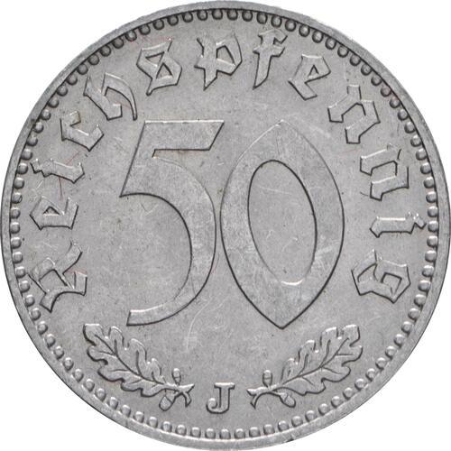 Vorderseite:Deutschland : 50 Reichspfennig Kursmünze  1939 vz/Stgl.