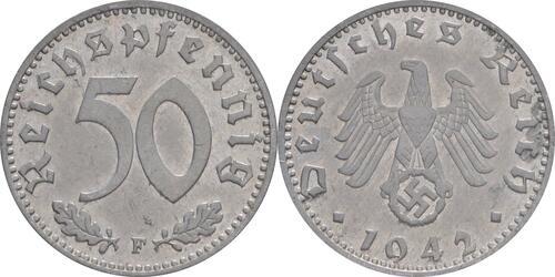 Lieferumfang:Deutschland : 50 Reichspfennig Kursmünze  1942 ss/vz.