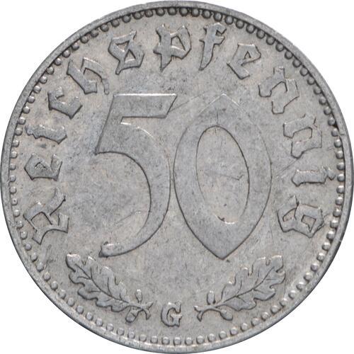 Vorderseite:Deutschland : 50 Reichspfennig Kursmünze  1942 ss.