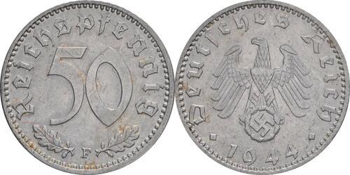 Lieferumfang:Deutschland : 50 Reichspfennig Kursmünze  1944 vz.