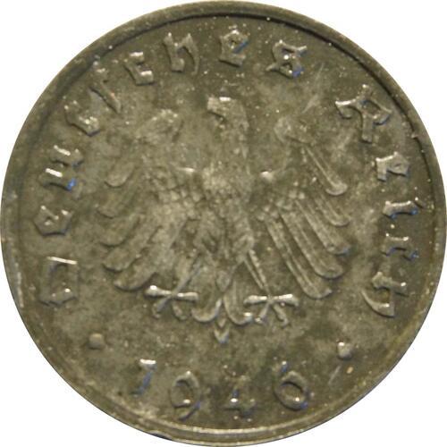 Rückseite:Deutschland : 10 Reichspfennig Alliierte Besetzung zaponiert 1946 vz.