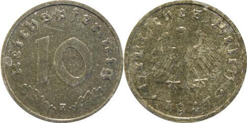 Lieferumfang:Deutschland : 10 Reichpfennig Alliierte Besetzung zaponiert 1947 ss.