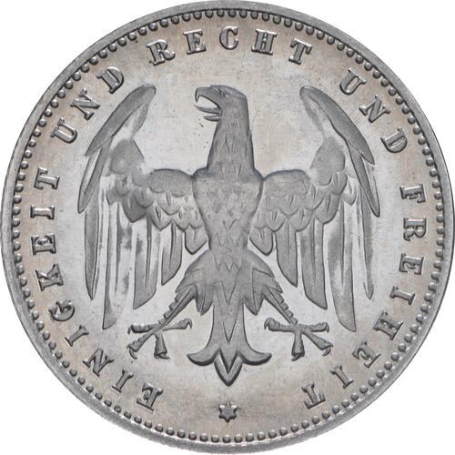Rückseite:Deutschland : 200 Mark Kursmünze  1923 PP