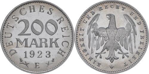 Lieferumfang:Deutschland : 200 Mark Kursmünze  1923 PP