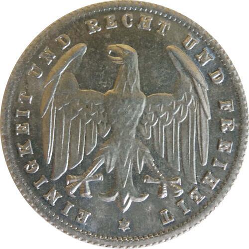 Rückseite:Deutschland : 500 Mark Kursmünze -selten- 1923 Stgl.