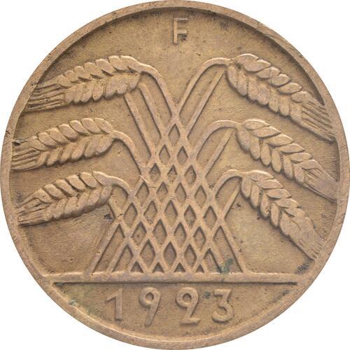 Rückseite:Deutschland : 10 Rentenpfennig Kursmünze  1923 ss/vz.