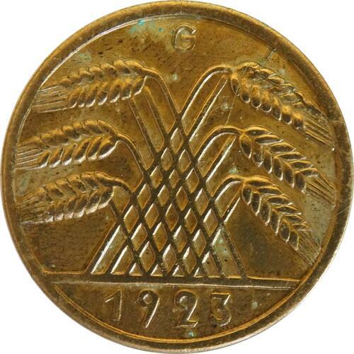 Rückseite :Deutschland : 10 Rentenpfennig Kursmünze  1923 ss/vz.