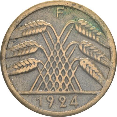 Rückseite:Deutschland : 50 Rentenpfennig Kursmünze  1924 ss/vz.