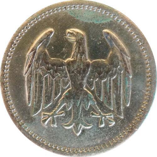 Rückseite :Deutschland : 1 Mark Kursmünze  1924 ss.
