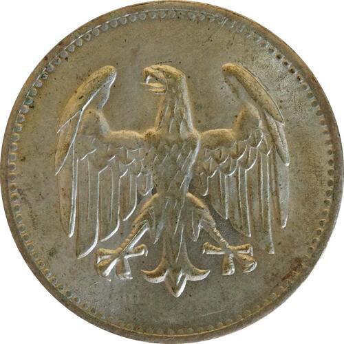 Rückseite:Deutschland : 1 Mark Kursmünze  1924 vz/Stgl.