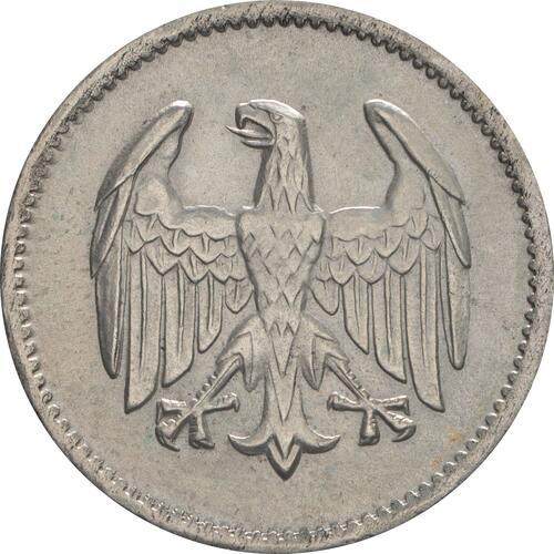 Rückseite :Deutschland : 1 Mark Kursmünze  1924 vz.