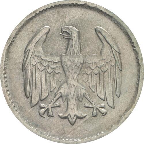 Rückseite:Deutschland : 1 Mark Kursmünze  1924 vz.