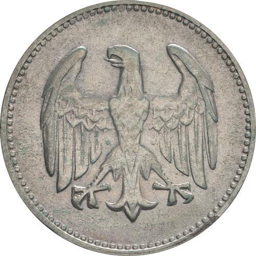 Rückseite:Deutschland : 1 Mark Kursmünze  1924 ss.