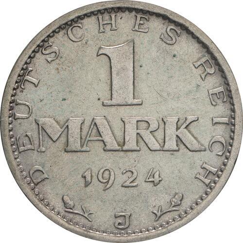 Vorderseite:Deutschland : 1 Mark Kursmünze  1924 ss/vz.