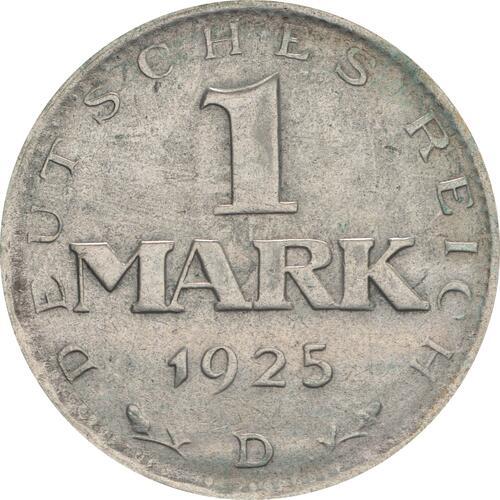 Vorderseite:Deutschland : 1 Mark Kursmünze  1925 ss.