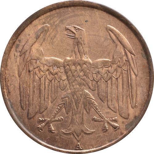Rückseite:Deutschland : 4 Reichspfennig Kursmünze  1932 ss.