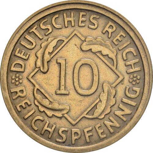 Vorderseite :Deutschland : 10 Reichspfennig Kursmünze  1928 vz.
