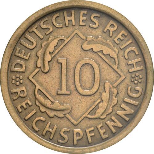 Vorderseite :Deutschland : 10 Reichspfennig Kursmünze  1933 vz.