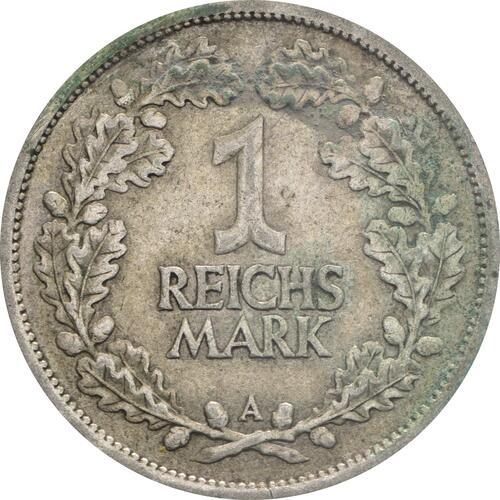 Vorderseite:Deutschland : 1 Reichsmark Kursmünzen  1925 ss.