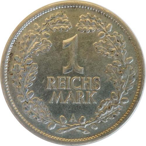 Vorderseite:Deutschland : 1 Reichsmark Kursmünze  1925 ss/vz.