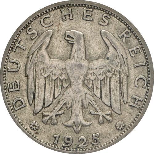 Rückseite:Deutschland : 1 Reichsmark Kursmünze  1925 ss.