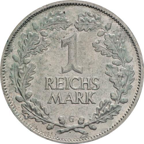 Vorderseite:Deutschland : 1 Reichsmark Kursmünze  1925 vz.