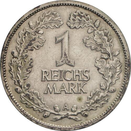 Vorderseite :Deutschland : 1 Reichsmark Kursmünze  1926 ss.