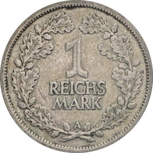 Vorderseite:Deutschland : 1 Reichsmark Kursmünze  1926 ss.