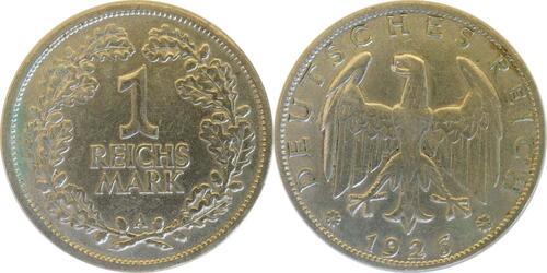 Lieferumfang:Deutschland : 1 Reichsmark Kursmünze  1926 ss/vz.