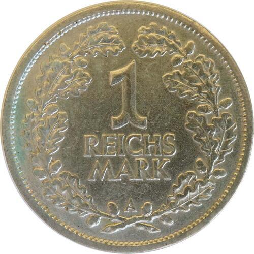 Vorderseite:Deutschland : 1 Reichsmark Kursmünze  1926 ss/vz.