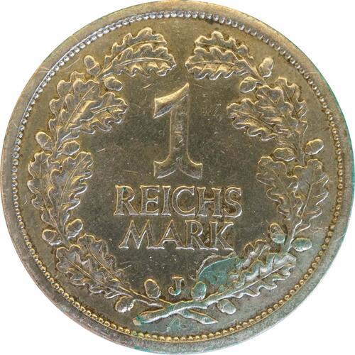 Rückseite:Deutschland : 1 Reichsmark Kursmünze  1927 ss.