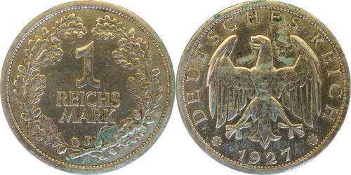 Lieferumfang:Deutschland : 1 Reichsmark Kursmünze  1927 ss.