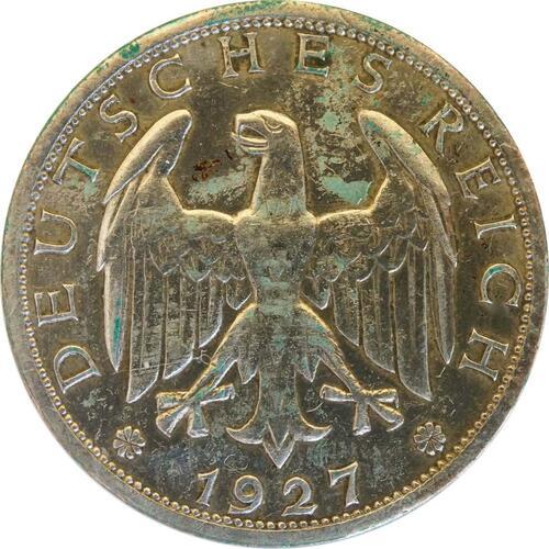 Vorderseite:Deutschland : 1 Reichsmark Kursmünze  1927 ss.