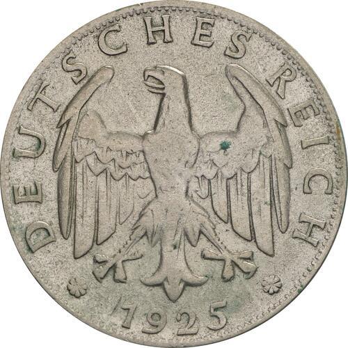 Rückseite:Deutschland : 2 Reichsmark Kursmünze  1925 ss/vz.