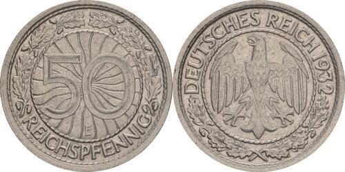Lieferumfang:Deutschland : 50 Reichspfennig Kursmünze  1932 vz.