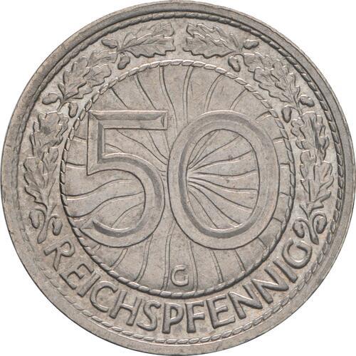 Vorderseite:Deutschland : 50 Reichspfennig Kursmünze  1935 vz.