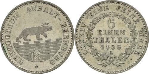 Lieferumfang:Deutschland : 1/6 Taler   1856 vz/Stgl.