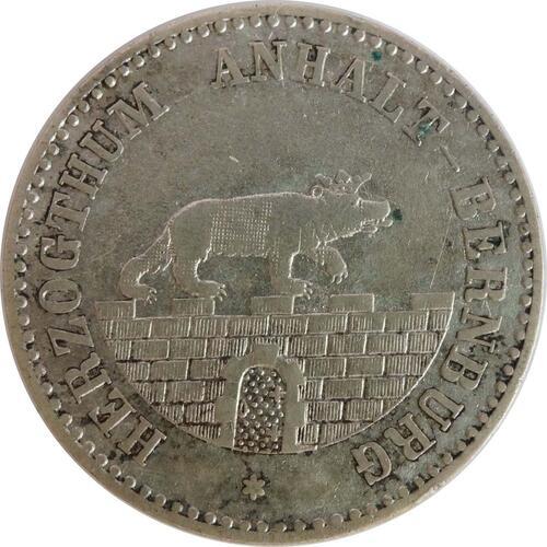 Rückseite:Deutschland : 1/6 Taler   1861 ss.