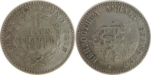Lieferumfang :Deutschland : 1/6 Taler   1861 ss.