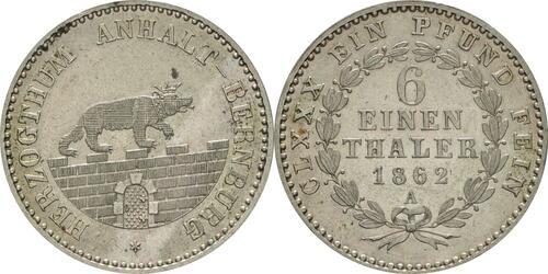 Lieferumfang :Deutschland : 1/6 Taler  !Erhaltung! 1862 Stgl.