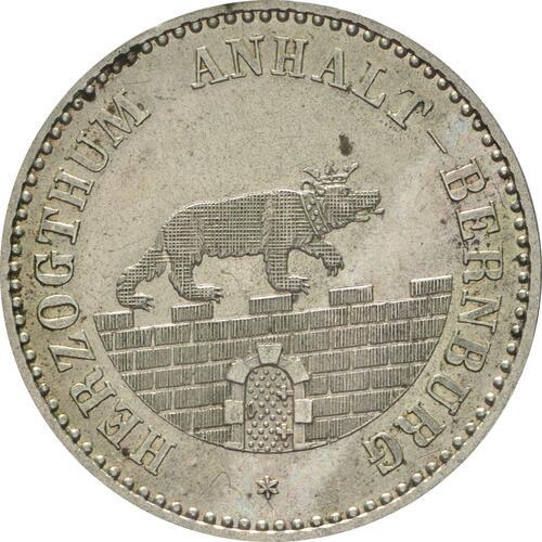 Vorderseite:Deutschland : 1/6 Taler  !Erhaltung! 1862 Stgl.