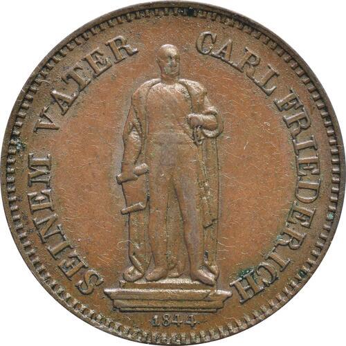 Rückseite :Deutschland :  Gedenkkreuzer Standbild  1844 vz.