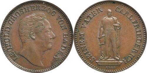 Lieferumfang :Deutschland :  Gedenkkreuzer Standbild  1844 vz.