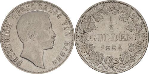 Lieferumfang:Deutschland : 1/2 Gulden   1861 ss.