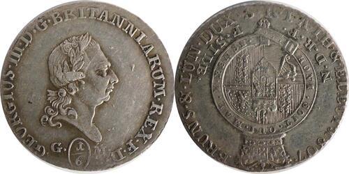 Lieferumfang :Deutschland : 1/6 Taler Büste / Wappen  1807 ss.