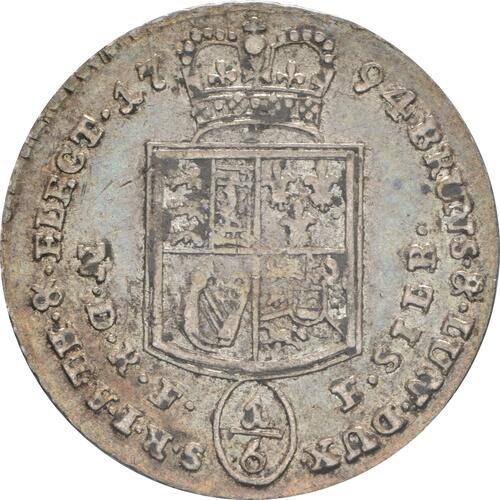 Rückseite:Deutschland : 1/6 Taler Georg III patina 1794 ss/vz.